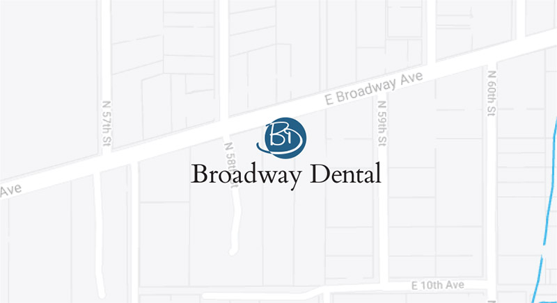 Broadway Dental Google map