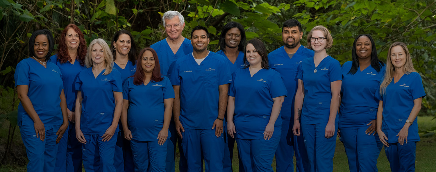picture of entire office staff for Broadway Dental